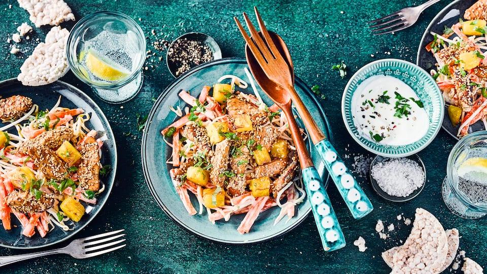 Sprossen-Salat mit Huhn