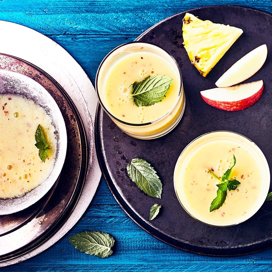 Haferflocken-Smoothie mit Ananas zur Gewichtsreduktion