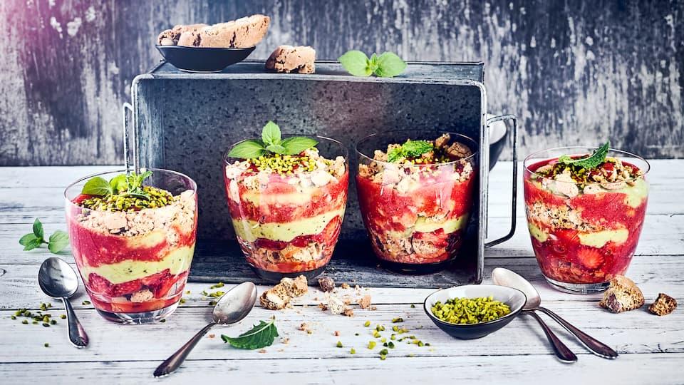 Avocado-Erdbeer-Tiramisu