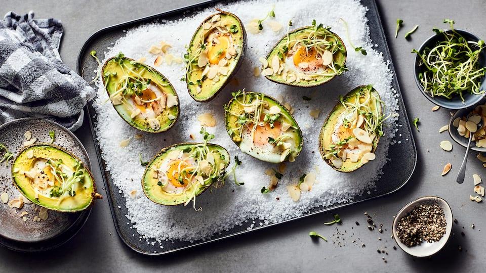 Avocado mit Ei