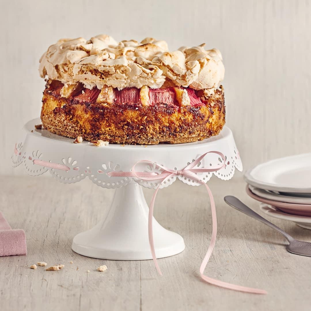 Rhabarber Baiser Kuchen Rezept Edeka
