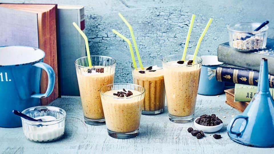 Kreieren Sie aus Milch und Früchten einen erfrischenden Drink. Zudem eignet sich unser Bananen-Milchshake dank vollwertiger Zutaten als leichtes Frühstück!
