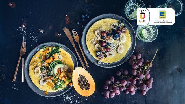 Bananen-Omelette herzhaft & süß