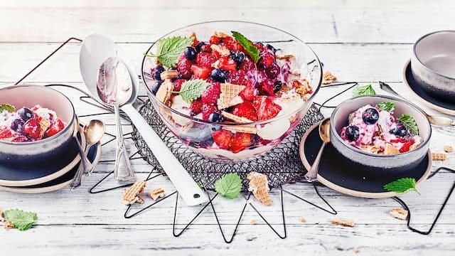 Beeren-Trifle mit Ricotta