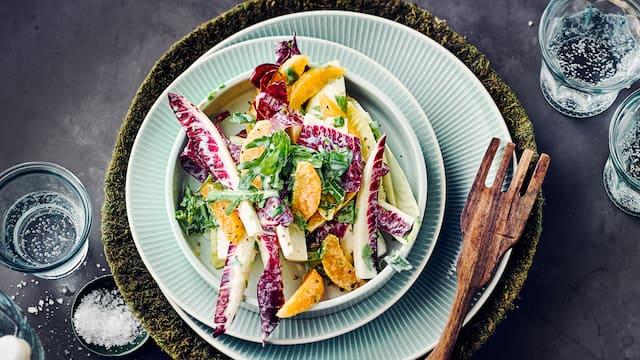 Bunter Chicorée-Salat
