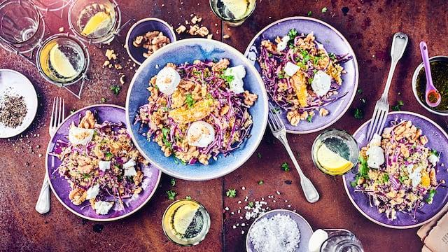 Couscous-Salat mit Rotkohl