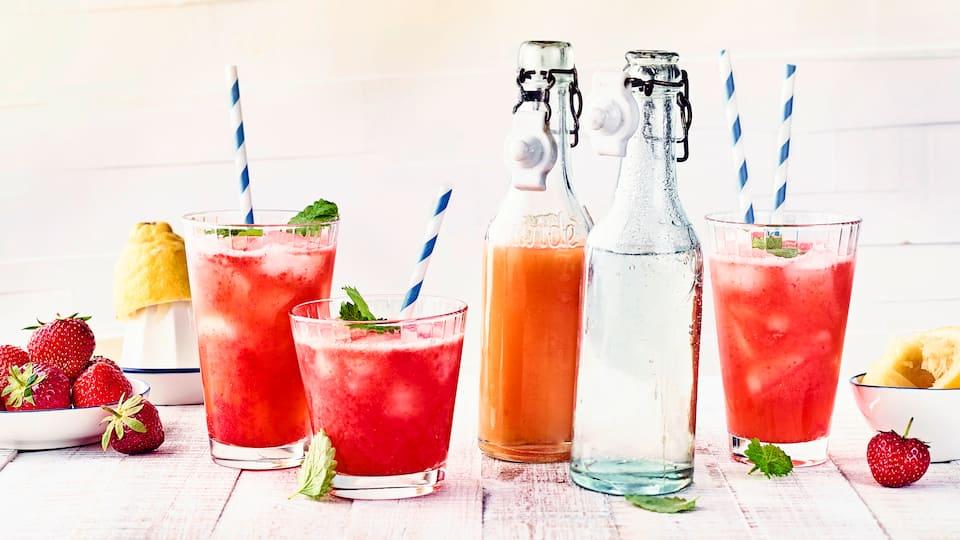 Erdbeer-Zitronen-Limonade