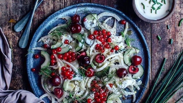 Fenchel-Johannisbeer-Salat