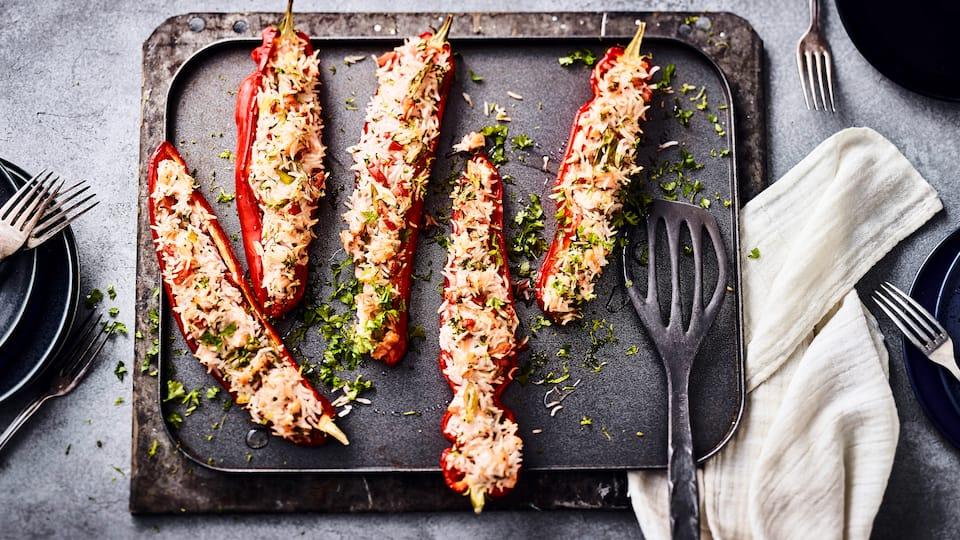 Gefüllte Paprika mit Lachs