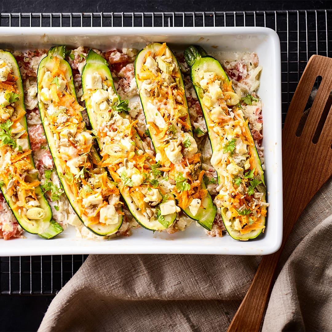 Gefüllte Zucchini Rezept Edeka
