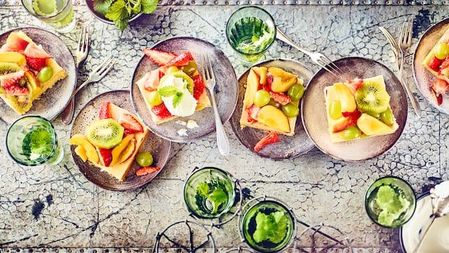 Gemischter Obstkuchen