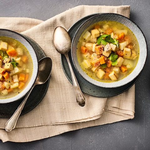 Gemüse-Eintopf mit Tofu