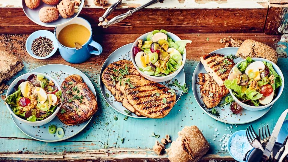 Unser Grillsteak mit Blattsalat: Ganz klassisch und bei jedem Grillfest ein Genuss!