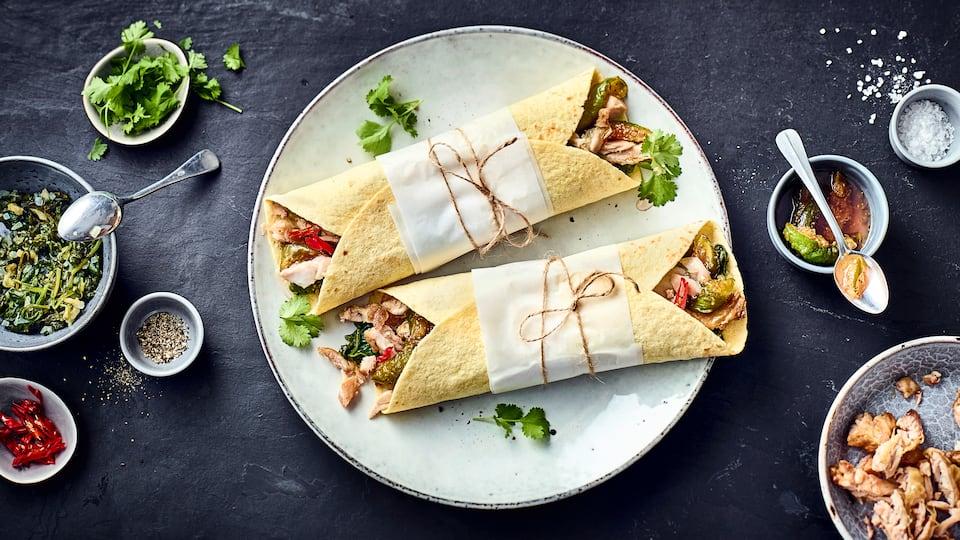 Hähnchen-Wraps