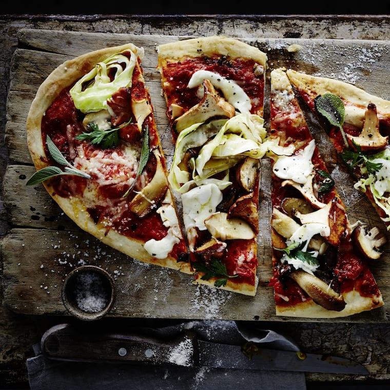 Herbstliche Pizza