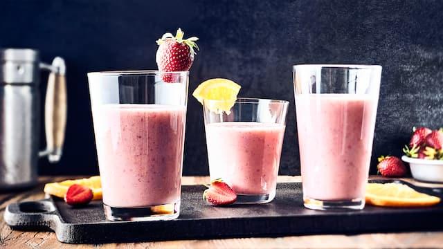 Orange-Erdbeer-Shake