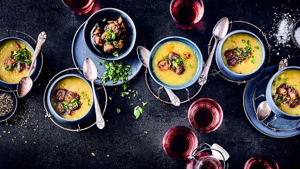 Kartoffel-Karamellsuppe