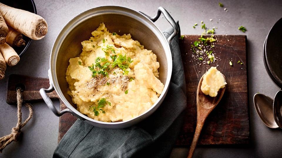 Kartoffel-Petersilienwurzel-Brei