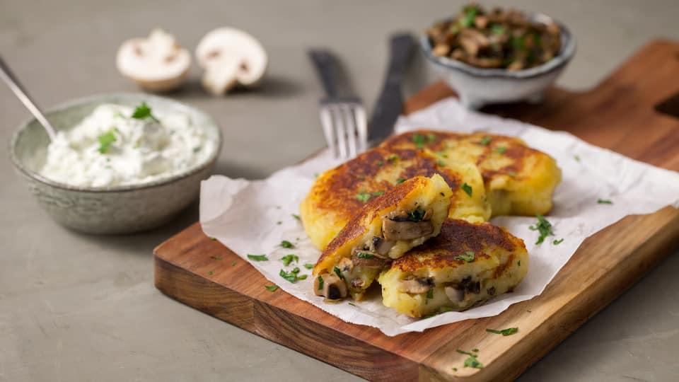 Kartoffeltaschen mit Pilzen