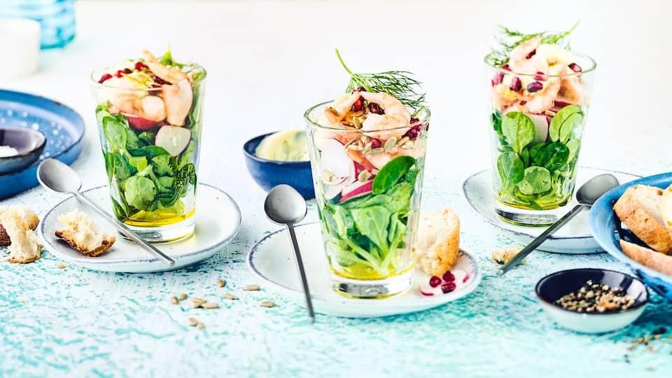 Krabbensalat im Glas