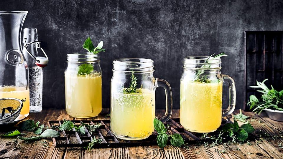 Kombinieren Sie naturtrüben Apfelsaft mit Agavendicksaft, Melisse und Zitronen zu einem erfrischenden Sommergetränk mit unserem Rezept.