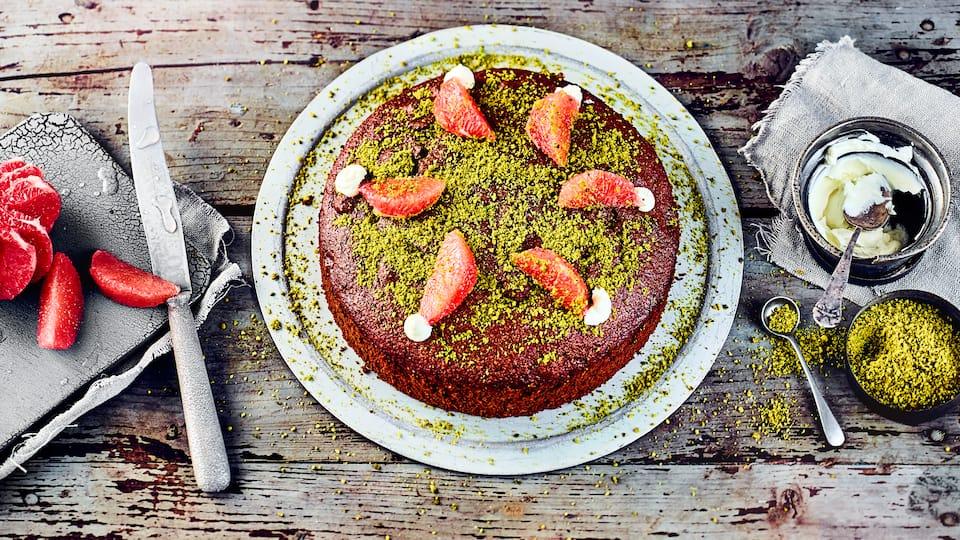 Kuchen mit Pflaumenmus
