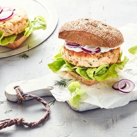 Lachs-Burger