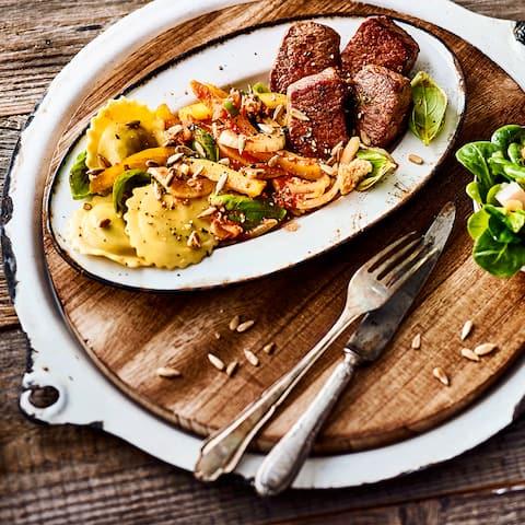 Lamm-Medaillons mit Gemüse