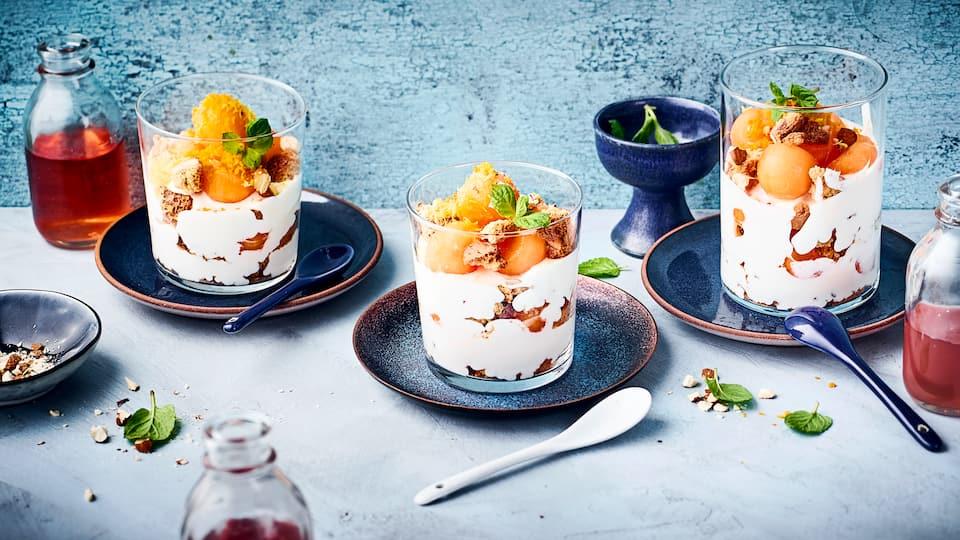 Melonen-Mascarpone-Dessert