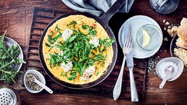 Omelette mit Ricotta