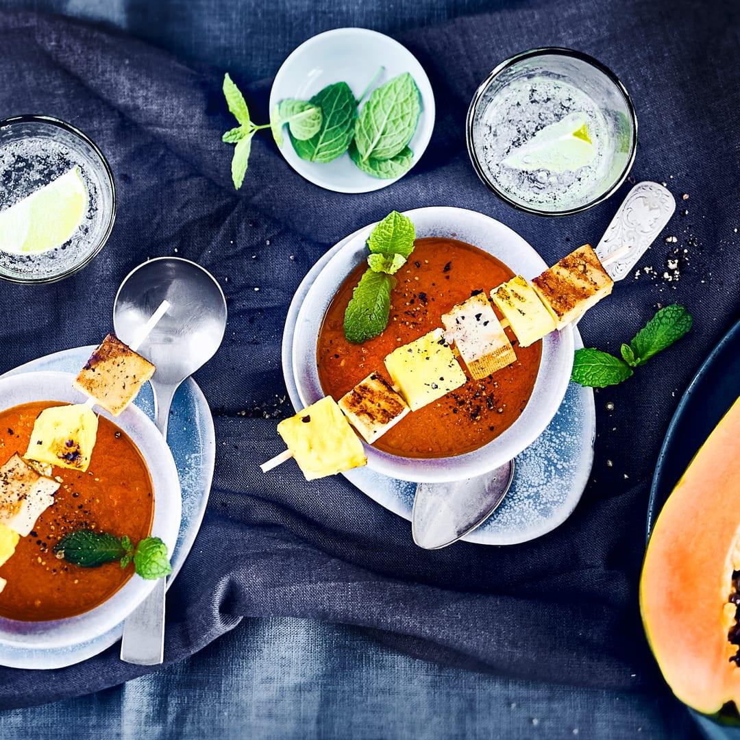 papaya suppe mit kabeljau rezept edeka. Black Bedroom Furniture Sets. Home Design Ideas