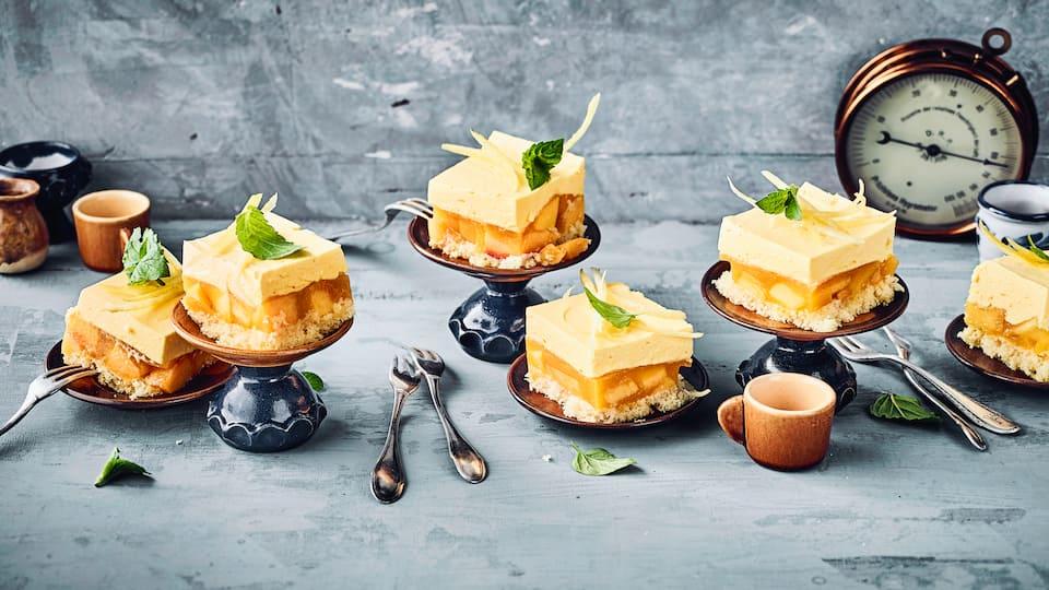 Pfirsich-Sahne-Kuchen