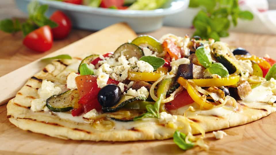 Pizza verdura vom Grill