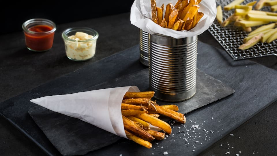Selbstgemachte Pommes Frites