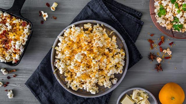 Popcorn in drei Varianten