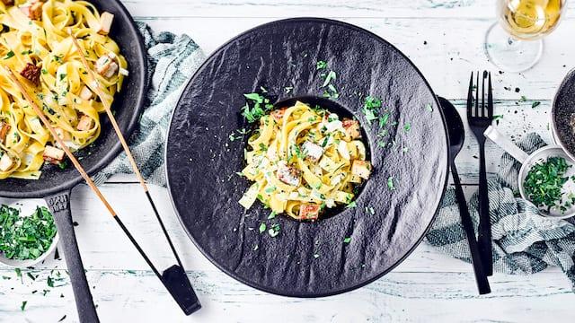 Vegane Pasta Carbonara