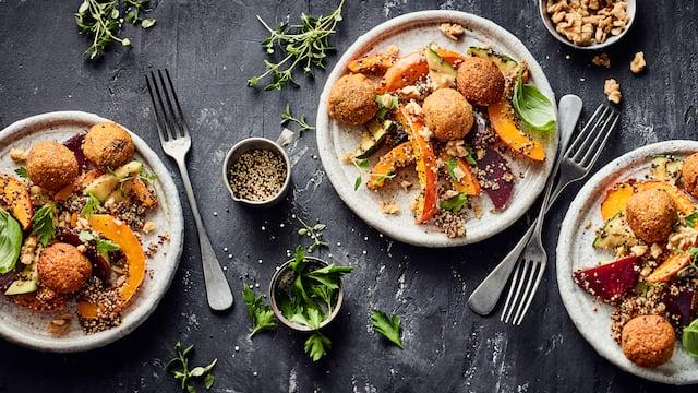 Quinoa-Falafel-Pfanne