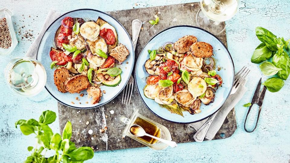 Ratatouille-Salat mit Käse