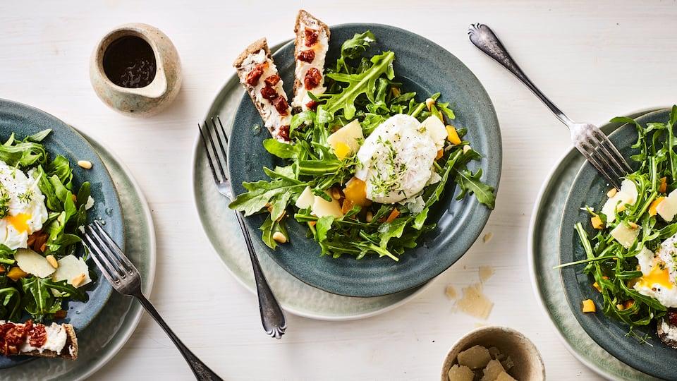 Rucola-Salat mit Ei