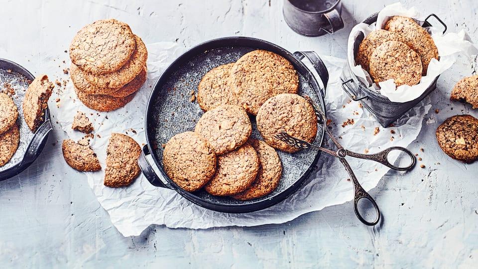 Schokoladen-Cashew-Cookies