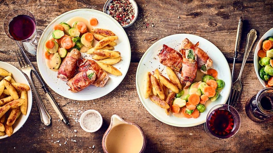 Entdecken Sie unser Rezept für Schweinefilet Saltimbocca