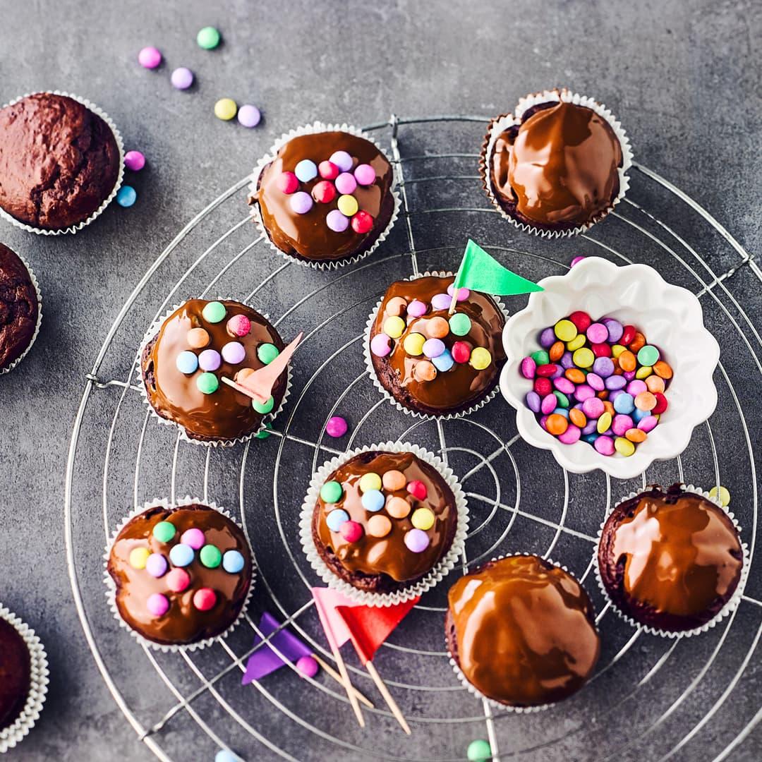 Rezept fur schoko muffins mit smarties