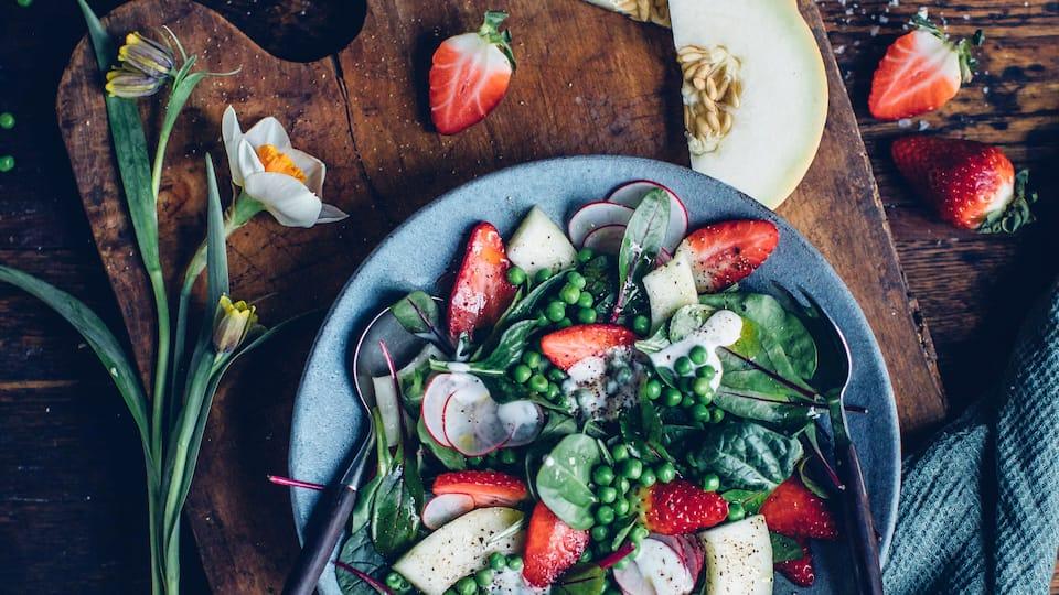 Sommersalat mit Melone