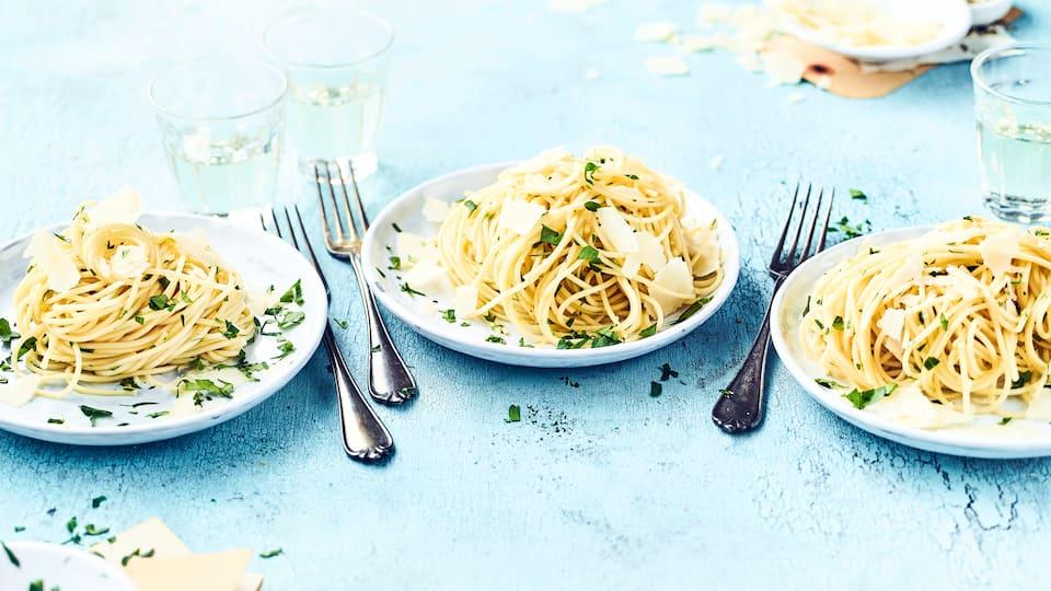 Einfach und schnell zubereitet ist unser Spaghetti aglio e olio Rezept ein bekannter Genuss der italienischen Küche.