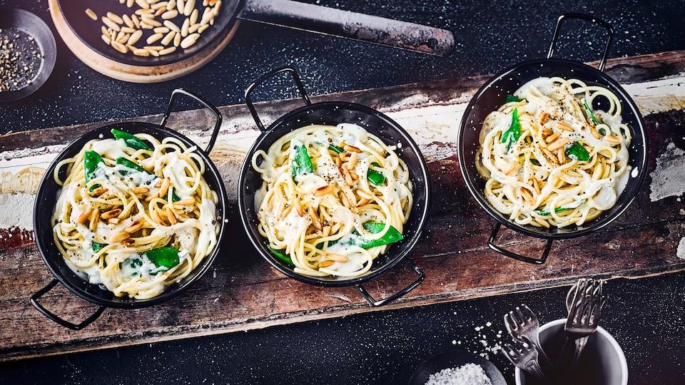 Spaghetti mit Zuckerschoten