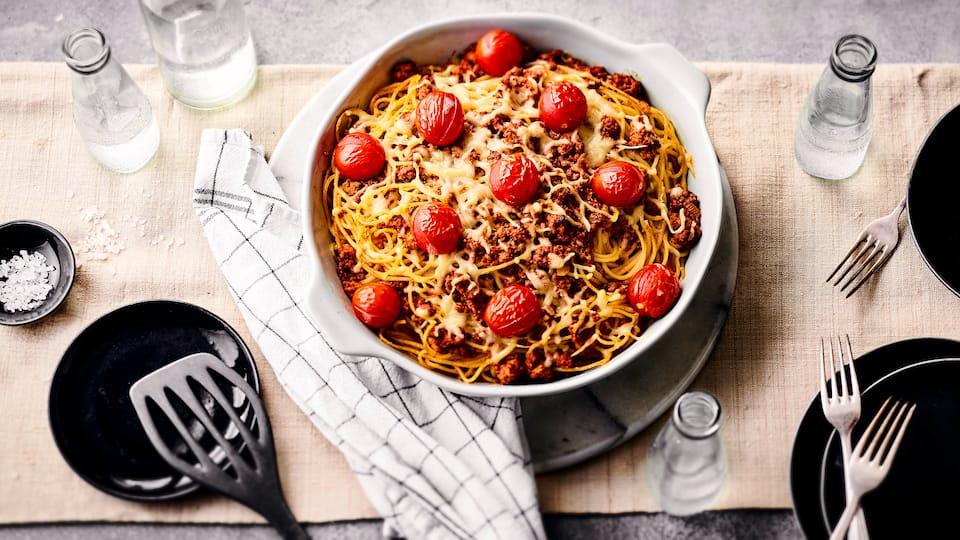 Spaghettiauflauf mediterran