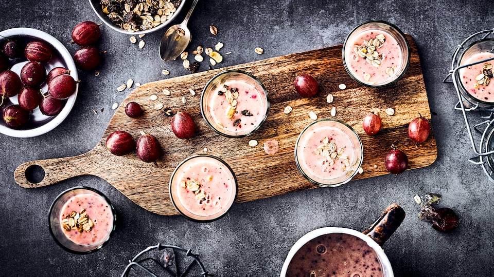 Stachelbeer-Kiwi-Smoothie
