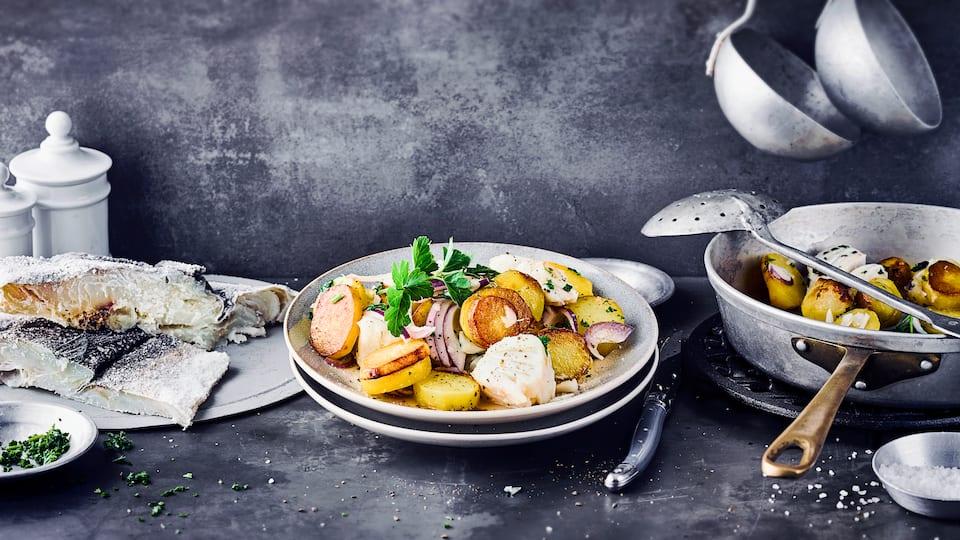 Kartoffel-Stockfisch-Pfanne