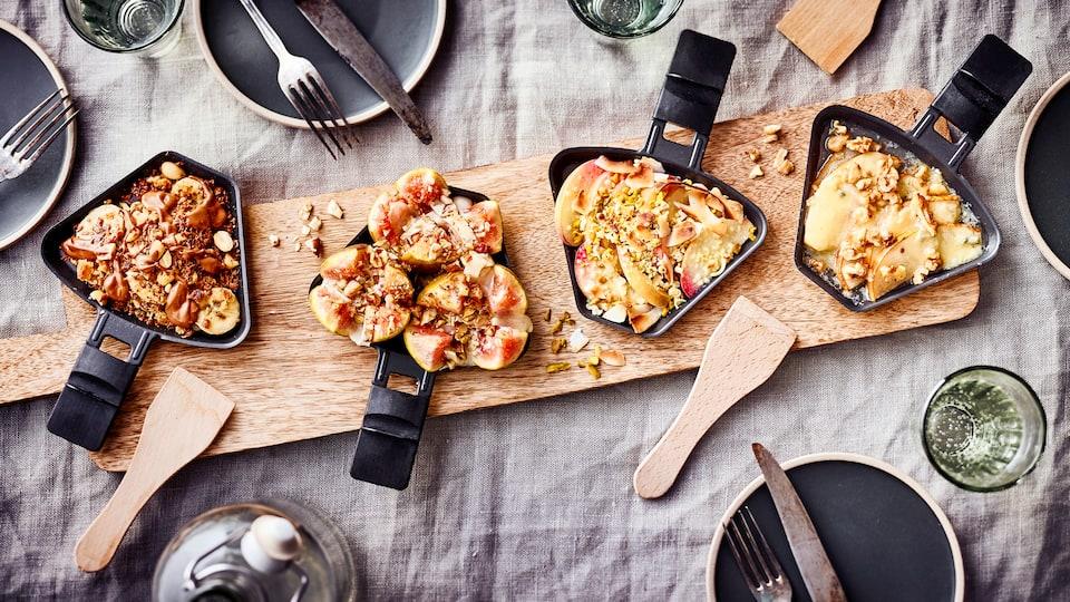 Zu einem gelungenen Raclette-Abend benötigen Sie gar kein extra-Dessert - unsere süßen Raclette-Pfännchen sind wunderbar vielseitig, da ist für jeden Geschmack etwas dabei!