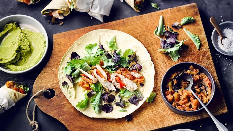 Tortilla-Wrap mit Hähnchen